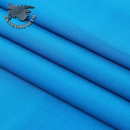 100% cotton plain dyed poplin fabric