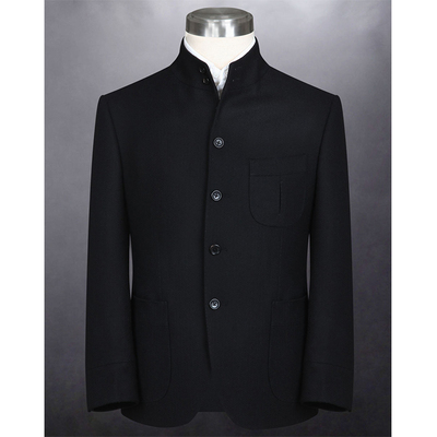 Bespoke 2 pieces latest design Chinese collar men suit