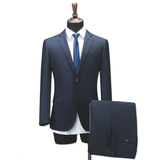 Men's Two-Piece Classic Fit Office 2 Button Suit Jacket & Pleated Pants Set