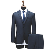 Mens 2 Piece Suits Single Breasted One Button Formal Wedding Suits