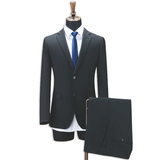 Men's Classic Two Button Suits Fit 2 Pieces Dress Suit Jacket & Pants