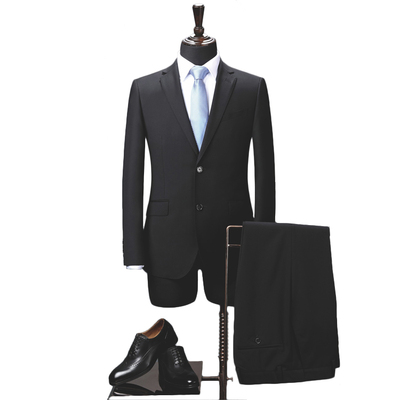 Wool-like Men's Classic Two Button Suits Fit 2 Pieces Dress Suit Jacket & Pants Wedding Men Suit