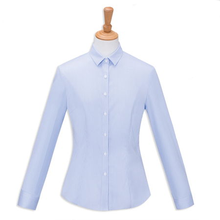 Easy care non-ironing stripes woman blouse lady's dress shirt