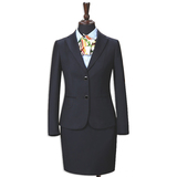 Wool-like Two Piece Office Women Shirt Suits Office Lady Pant Suits