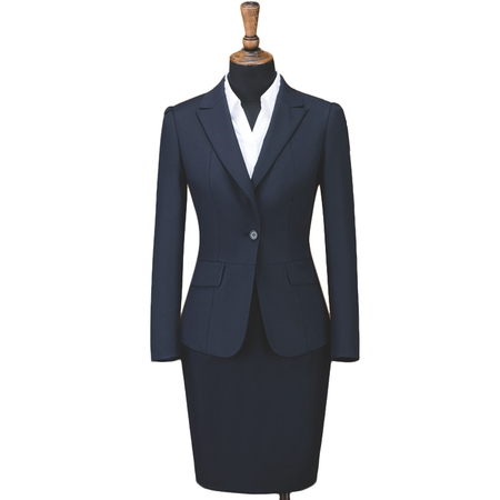 Stretched Women's Elegant Business Two Piece Office Lady Suit Set Work Blazer Pant Skirt