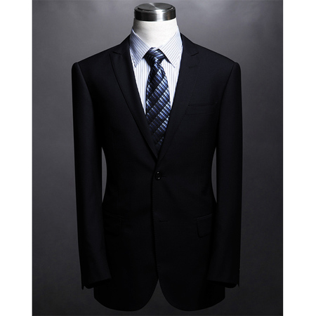 Tailor made top brand black coat pants men suit