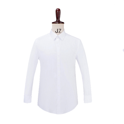 Easy care non-ironing oversized men's white twill dress shirt